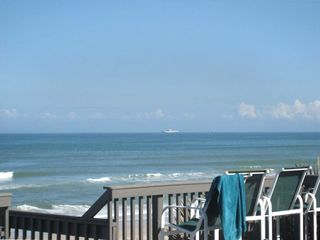 New Smyrna Beach house rental - Ocean View From The Huge Deck. Step Out On The Sand