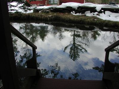 Outside Sauna/Springfed Plunge Pond