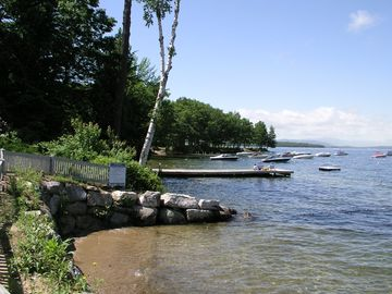 Shoreline of Lake Winnipesaukee near Samoset waterfront.