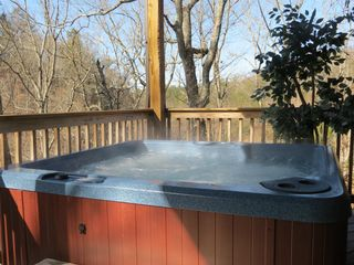 Pigeon Forge cabin photo - Soak your cares away in the new hot tub.