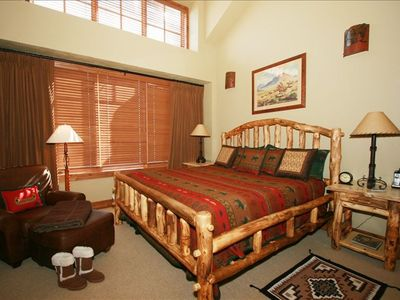 The King (Master) Bedroom Suite has a walk-in closet, office & full luxury bath.