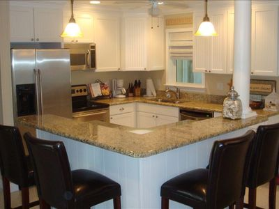 All stainless steel appliances with granite counters!