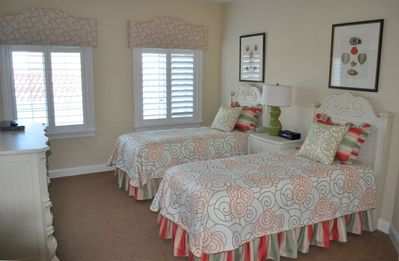 2nd Bedroom with twins and excellent views north to St Augustine Lighthouse!