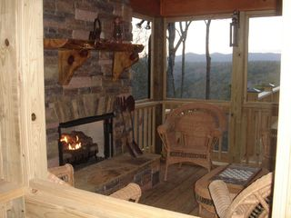 Ellijay cabin photo - Sunroom over looking the beautiful mountains.