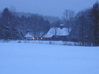 Wardsboro farmhouse photo - cosy in the snow
