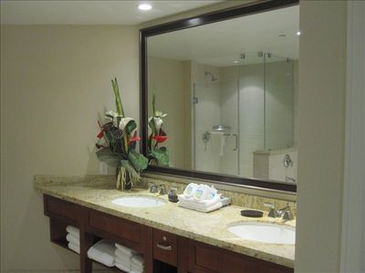 Gleaming New Bathrooms w/Dual Sinks and Granite Countertops