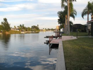 Cape Coral house photo - Canal behind house