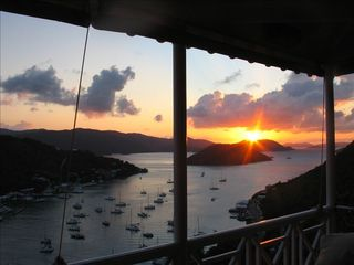 Tortola villa photo - Sunset from Living Room Balcony