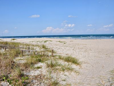 Your beach, just steps away.White sand and very wide.Come relax & unwind.