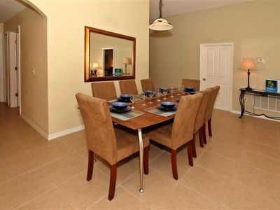 Dining Area with 'refectory' table. Seating for up to 10 people is available.