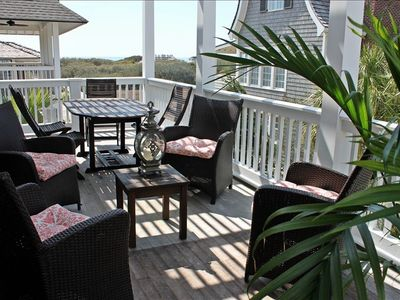 Balcony french doors open off dining & living room. Gorgeous ocean views!