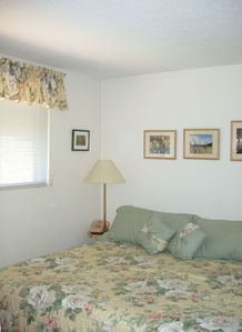 master bedroom, king size bed, located on third floor with full bath