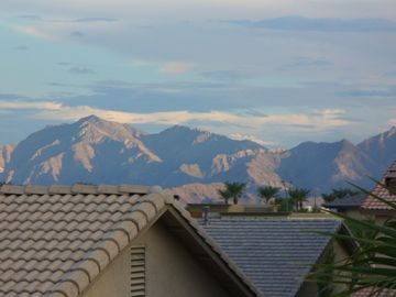 Mountain view from back patio