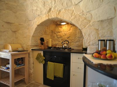 Kitchen with original stone features