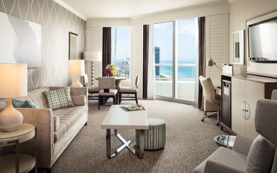 Rate one bedroom ocean suite in the fontainebleau hotel book now