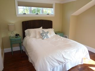 Newport condo photo - Master Bedroom with feather bed up on the Loft Master Suite