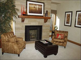 Beaver Creek house photo - Gas Fireplace and Sitting Area in the Master Bedroom