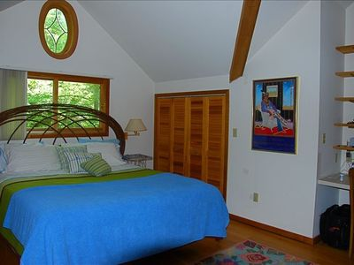 Master bedroom on second floor with full bath.