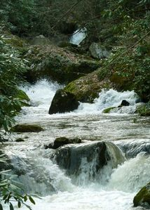 Awe inspiriing white water creek at Winding Falls