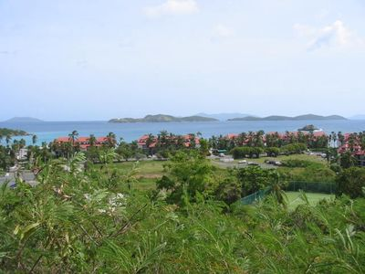 View of the resort from the road above.