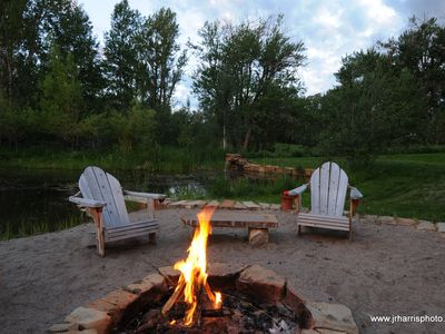 Relax with a Fire on the Pond