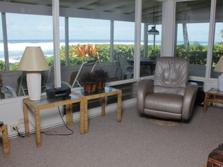 Haleiwa cottage photo - Ocean views from living room, dining room & kitchen w/ massage chair