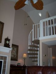 Kingston Plantation condo photo - Spiral staircase to the loft area
