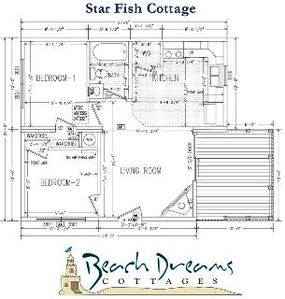 Wells cottage rental - floor layout