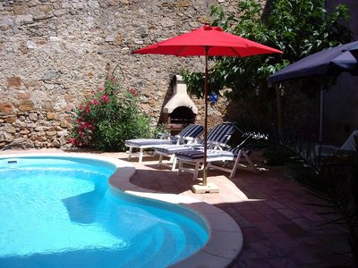 Superb, village house with private pool & large, sunny, secluded courtyard