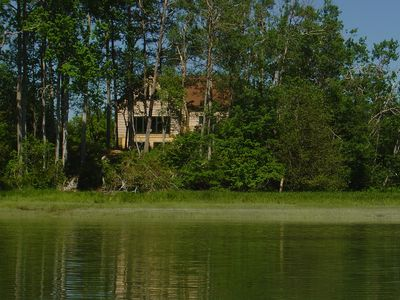 Looking Back at House from Kayak