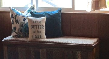 Crestline cabin rental - pillow says it all