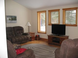 Williamstown house photo - Recently Built Family Room with Radiant Floor Heating and HD TV