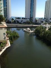 Sunny Isle apartment photo - Canal, Collins Ave, and Sea view
