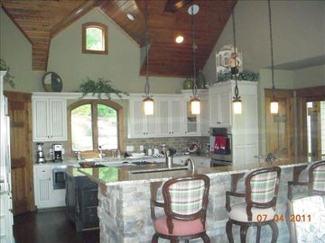 View of Kitchen and Breakfast Bar. Equipped by a family that enjoys to cook!