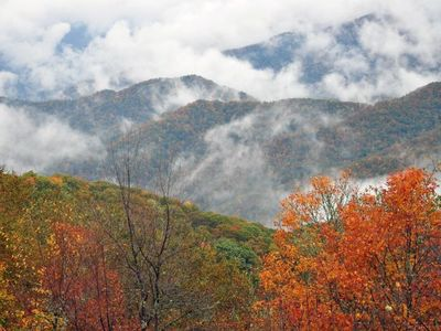 Enjoy the Fall mornings in the Smoky mountains