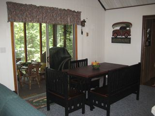 Lake Wallenpaupack house photo - Dining area with sliders to huge screened porch