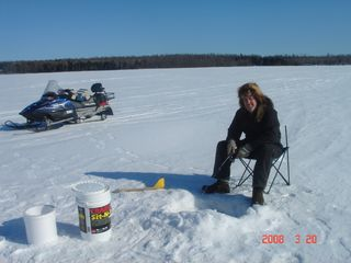 Orr cabin photo - Ice fishing