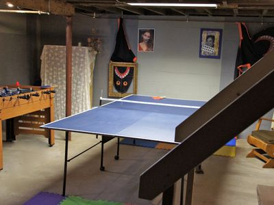 Rye house rental - Basement ping pong / game room