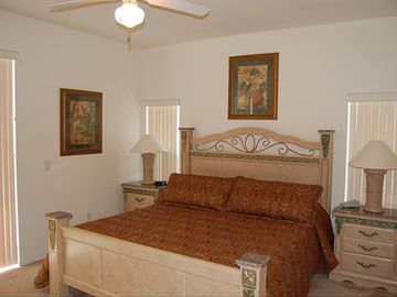 Master Bedroom One with 7 foot by 7 foot king size bed