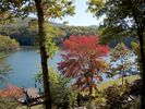 Late summer/Early Fall view of lake and mountain - Huddleston cabin vacation rental photo