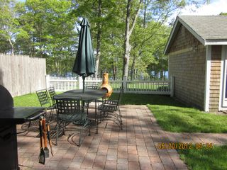Dennis Village cottage photo - patio with view of pond