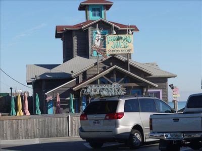 THE FAMOUS POMPANO JOE'S SEAFOOD REASTAURANT IS JUST A 5 MIN. WALK AWAY