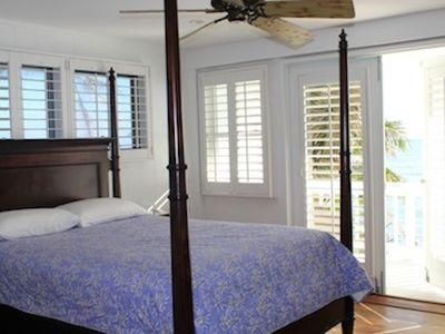 Oceanfront bedroom with queen bed