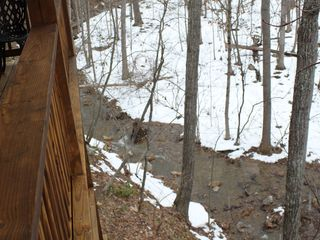 Massanutten house photo - A babbling brook runs right behind the house (seasonal)