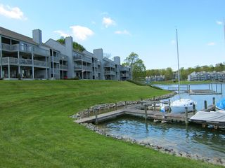 Moneta condo photo - Lake-side view of our building from the marina side