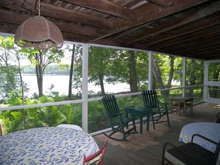 Lakeville cottage photo - Front Porch -- Supervision Post for Lake Activities