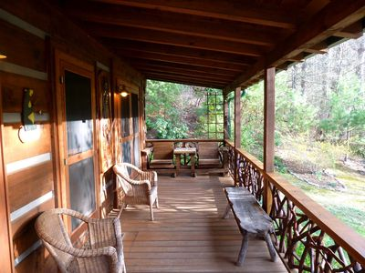 Hot Springs cabin rental - Front Porch at the Cabin