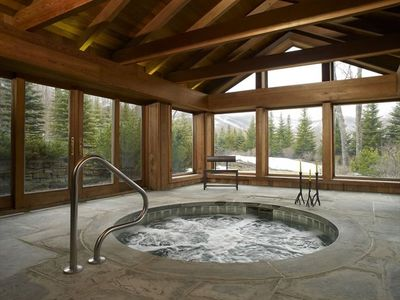 Killington estate rental - The best views of any indoor jacuzzi in Killington!