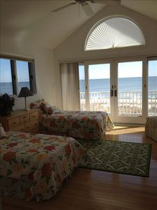 2nd floor bedroom #2 Ocean front. Access to balcony.