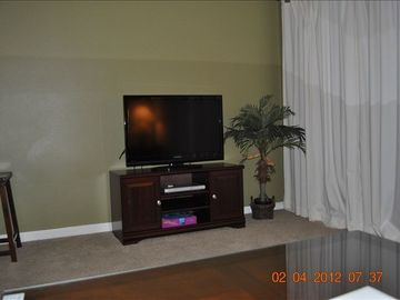 "37"" Flat Panel Television and DVD player"